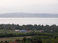 View from Zamárdi to Lake Balaton towards Balatonfüred town - Zamárdi, Hungary