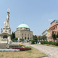 Baroque Holy Trinity column - Pécs, 헝가리