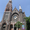 "The neo-gothic style Queen of the Rosary Roman Catholic Church (""Rózsafüzér Királynéja templom"") - 布达佩斯, 匈牙利"
